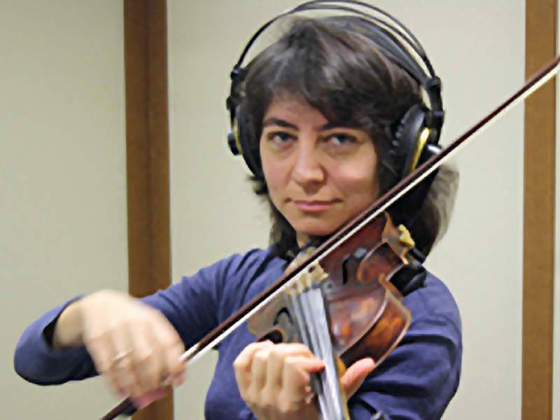 Ализа Керен. Скрипка. Работа в студии звукозаписи